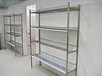 Стеллаж-сушка 1400х350х1700 из нержавейки(4 полки)