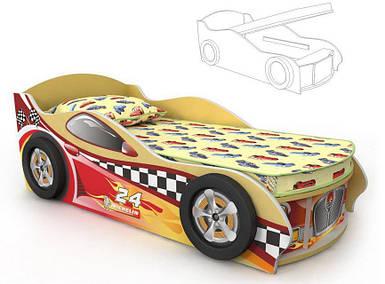 Кровать-машинка под матрас 700х1500 Dr-11-70mp Driver  (с подъемным механизмом)