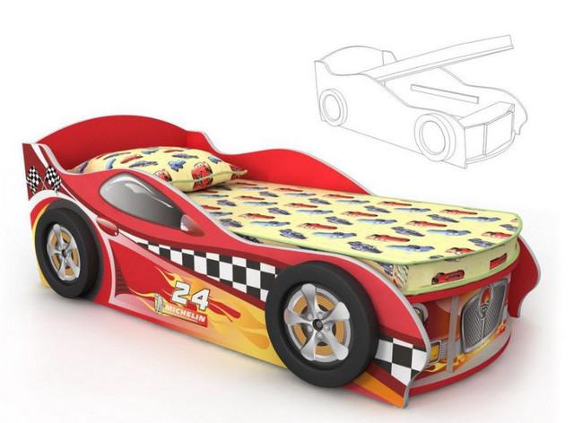 Кровать-машинка Dr-11-80mp Driver (красная)