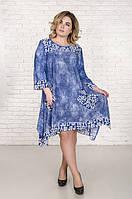 Стильное платье туника батал Сабина  (58-72) 62-64