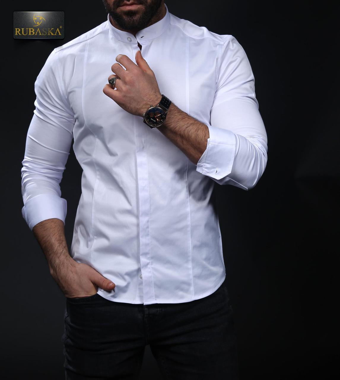 e5d8f28ca782ce3 Белая рубашка длинный рукав с воротником стойка: продажа, цена в ...