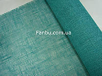 Сетка-мешковина натуральная флористическая ,цвет морской волны (лист 0.5* 0.5м)