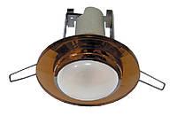 Светильник точечный под лампу R50 RG004 E14 CH+T (корич. стекло)