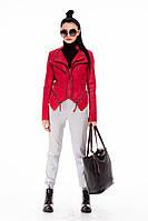 Красная куртка-косуха из экокожи Pronto Moda