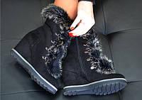 Ботинки зимние женские замшевые № 235-89