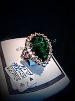 Серебряное кольцо в Османском стиле Хюррем Султан (стандарт) 925, 19, Капля