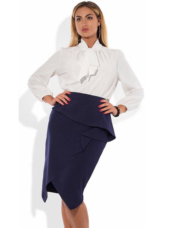 Деловой костюм из блузы и юбки размеры от XL 4094