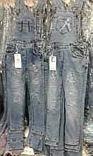 Детский джинсовый комбинезон на девочек