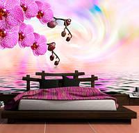 """3D фотообои """"Орхидеи над водой"""""""
