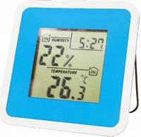 Термогигрометр цифровой с часами и будильником Т-07 (влажность + температура)