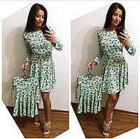 Красивое платье,набор мама и дочка
