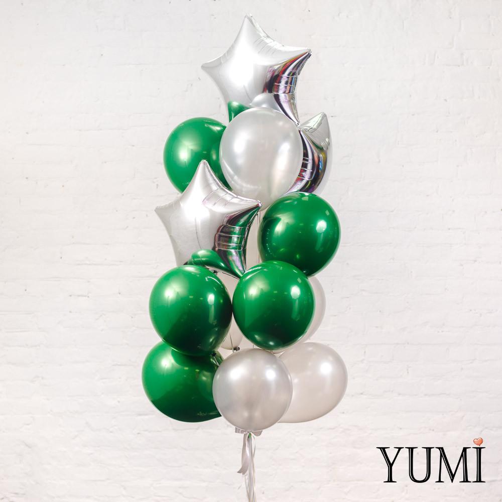 Стильный подарок из 15 шариков с гелием для парня