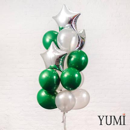 Стильный подарок из 15 шариков с гелием для парня, фото 2