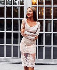 Нарядное вечернее элитное женское платье , фото 3