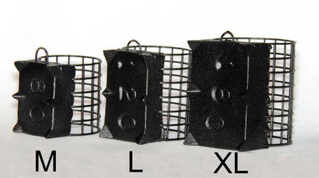 Кормушка фидерная GRIZZLY XL 36/45 с грунтозацепами, 120 грамм, фото 2