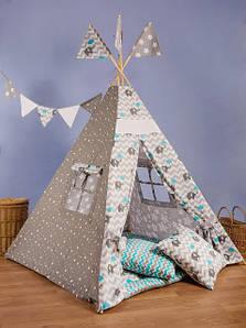 Вигвам - палатка «Слоник с голубым зонтиком»