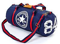 Спортивная сумка-бочонок в стиле Converse All Star GA-4974 для спортзала синяя