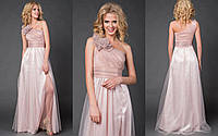 Длинное вечернее платье с рюшем на одно плечо размеры S-М