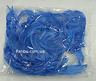 Декоративные синие перья в пакете (1уп.120-130 перьев), фото 1