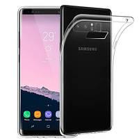 Прозрачный силиконовый чехол Samsung Galaxy Note 8