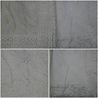 Нарядная скатерть расшитая вышивкой, 100% лен, 150х220 см., 630/560 (цена за 1 шт. + 70 гр.)