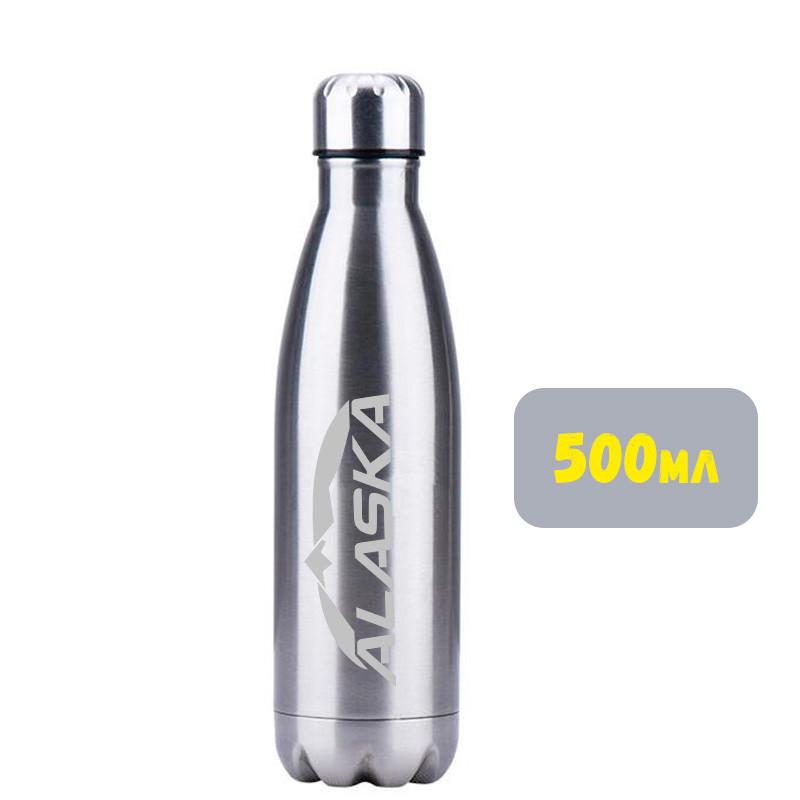 Термобутылка ALASKA Winner 500 ml Metallic Silver