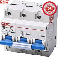 Модульний автоматичний вимикач CNC YCB1-125, 63А-125А, 3Р, серії Safe, тип D, 6 ka