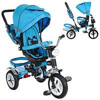 Детский трехколесный велосипед Turbo Trike M 3199-5HA, с фарой, синий