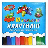 """Пластилин, 10цв., 215гр """"Колорит"""", П-10"""