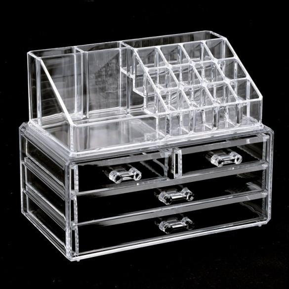 Акриловый органайзер для косметики Cosmetic storage Organizer настольный