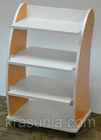 Косметологическая тележка с выдвижными полочками