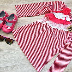 Красная кофта для девочек 6-8 лет Франция