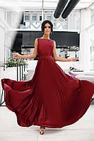 Вечернее платья в пол солнце клеш бордового цвета, выпускные платья недорого от производителя