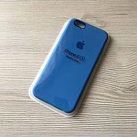 Силиконовый голубой чехол для iphone 6/6s в упаковке