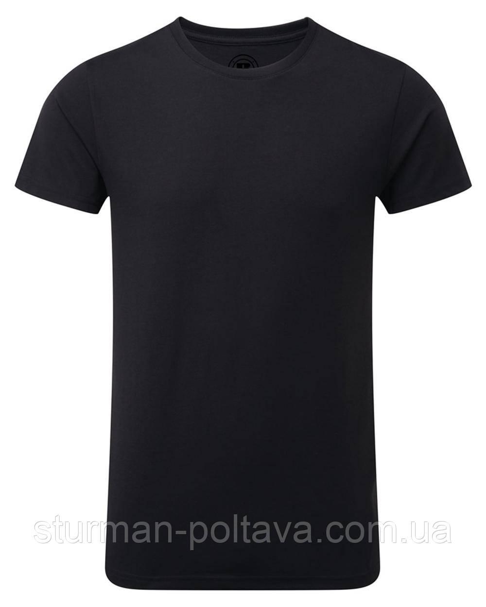 Футболка мужская  однотонная MFH черная плотность хлопка  180 g/m² Германия