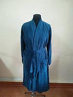 Махровый мужской халат морского цвета (S), фото 1