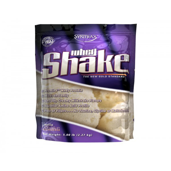 Сывороточный протеин концентрат Syntrax Whey Shake (2,3 кг) синтракс вей шейк vanilla shake