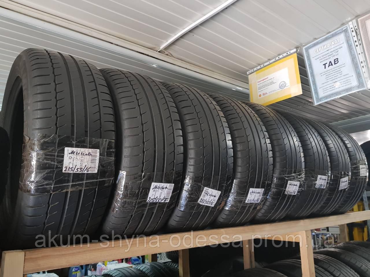 Шины летние б/у 215/55 R16 Michelin пара, 5,5 мм протектор