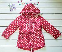 Куртка-парка   на девочку   (рост 98-116 см)