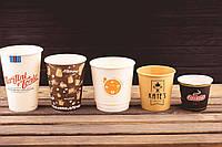 Бумажные стаканы с логотипом от 1000 шт