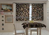 """Фото штора """"Кофейные зерна"""" 150 х 250 см"""