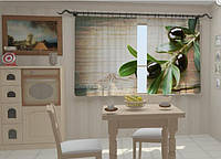 """Фото штора """"Маслины в кухне"""" 150 х 250 см"""