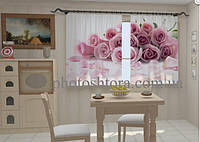 """Фото штора """"Лепестки роз для кухни"""" 150 х 250 см"""