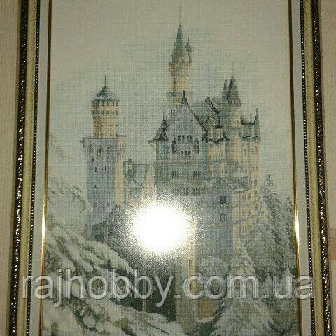 Картина вышитая крестиком Замок Нойшванштайн