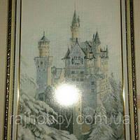 Картина вышитая крестиком Замок Нойшванштайн, фото 1