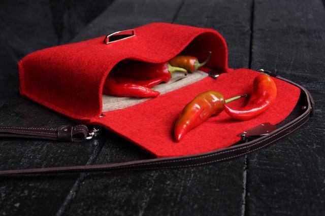 """Жіноча сумка з фетру """"Іndividual2""""ручної роботи"""
