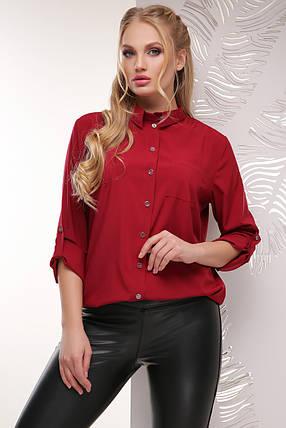 Женская батальная блуза из тонкой блузочной ткани , фото 2