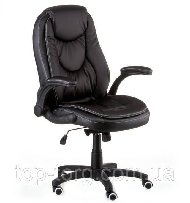 Кресло офисное Oscar black черного цвета, с подъемными подлокотниками