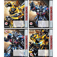 Тетрадь школьная Kite Transformers, 12 листов, в косую линию, TF18-235