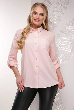 Женская легкая блуза 52 размер цвета пудра, фото 2